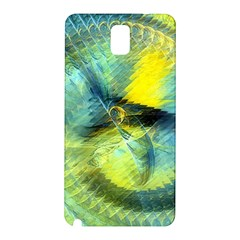 Light Blue Yellow Abstract Fractal Samsung Galaxy Note 3 N9005 Hardshell Back Case by designworld65