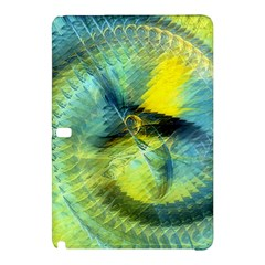 Light Blue Yellow Abstract Fractal Samsung Galaxy Tab Pro 12 2 Hardshell Case by designworld65