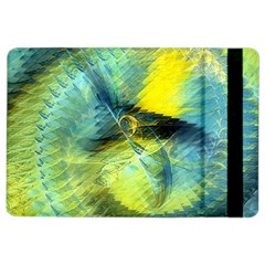 Light Blue Yellow Abstract Fractal Ipad Air 2 Flip by designworld65