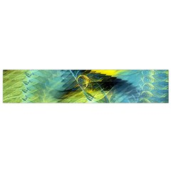 Light Blue Yellow Abstract Fractal Flano Scarf (small) by designworld65