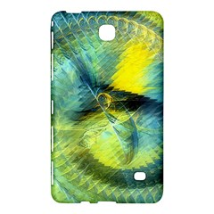 Light Blue Yellow Abstract Fractal Samsung Galaxy Tab 4 (8 ) Hardshell Case  by designworld65