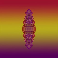 Flower Of Life Vintage Gold Ornaments Red Purple Olive Canvas 12  X 12   by EDDArt