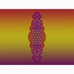 Flower Of Life Vintage Gold Ornaments Red Purple Olive Canvas 12  X 16   by EDDArt