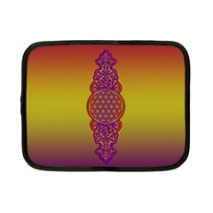 Flower Of Life Vintage Gold Ornaments Red Purple Olive Netbook Case (small)  by EDDArt