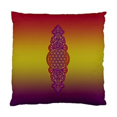 Flower Of Life Vintage Gold Ornaments Red Purple Olive Standard Cushion Case (two Sides) by EDDArt