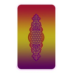 Flower Of Life Vintage Gold Ornaments Red Purple Olive Memory Card Reader by EDDArt