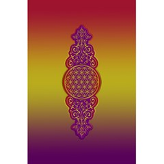 Flower Of Life Vintage Gold Ornaments Red Purple Olive 5 5  X 8 5  Notebooks by EDDArt