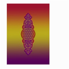 Flower Of Life Vintage Gold Ornaments Red Purple Olive Large Garden Flag (two Sides)