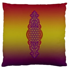 Flower Of Life Vintage Gold Ornaments Red Purple Olive Large Cushion Case (one Side) by EDDArt
