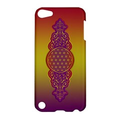 Flower Of Life Vintage Gold Ornaments Red Purple Olive Apple Ipod Touch 5 Hardshell Case by EDDArt