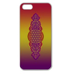 Flower Of Life Vintage Gold Ornaments Red Purple Olive Apple Seamless Iphone 5 Case (clear) by EDDArt
