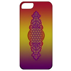 Flower Of Life Vintage Gold Ornaments Red Purple Olive Apple Iphone 5 Classic Hardshell Case by EDDArt