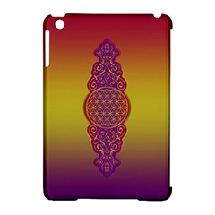 Flower Of Life Vintage Gold Ornaments Red Purple Olive Apple Ipad Mini Hardshell Case (compatible With Smart Cover) by EDDArt