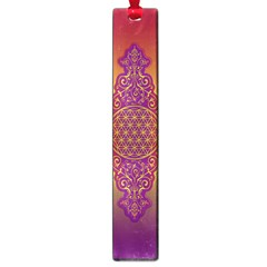 Flower Of Life Vintage Gold Ornaments Red Purple Olive Large Book Marks by EDDArt
