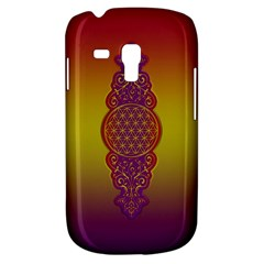 Flower Of Life Vintage Gold Ornaments Red Purple Olive Samsung Galaxy S3 Mini I8190 Hardshell Case by EDDArt