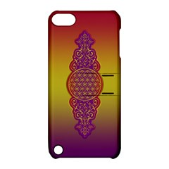 Flower Of Life Vintage Gold Ornaments Red Purple Olive Apple Ipod Touch 5 Hardshell Case With Stand by EDDArt