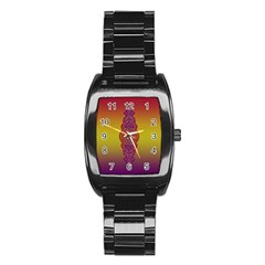 Flower Of Life Vintage Gold Ornaments Red Purple Olive Stainless Steel Barrel Watch by EDDArt