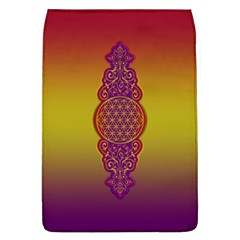 Flower Of Life Vintage Gold Ornaments Red Purple Olive Flap Covers (l)  by EDDArt