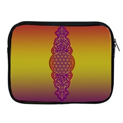 Flower Of Life Vintage Gold Ornaments Red Purple Olive Apple Ipad 2/3/4 Zipper Cases by EDDArt