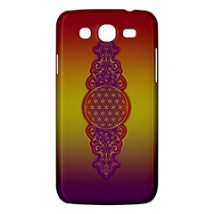 Flower Of Life Vintage Gold Ornaments Red Purple Olive Samsung Galaxy Mega 5 8 I9152 Hardshell Case  by EDDArt