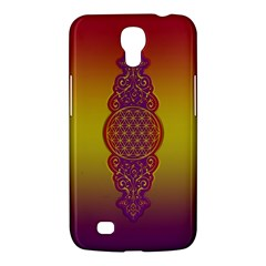 Flower Of Life Vintage Gold Ornaments Red Purple Olive Samsung Galaxy Mega 6 3  I9200 Hardshell Case by EDDArt