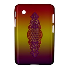 Flower Of Life Vintage Gold Ornaments Red Purple Olive Samsung Galaxy Tab 2 (7 ) P3100 Hardshell Case  by EDDArt