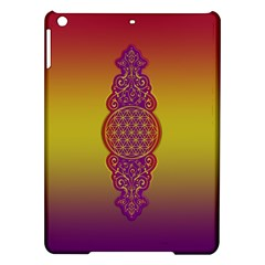 Flower Of Life Vintage Gold Ornaments Red Purple Olive Ipad Air Hardshell Cases by EDDArt