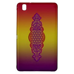 Flower Of Life Vintage Gold Ornaments Red Purple Olive Samsung Galaxy Tab Pro 8 4 Hardshell Case by EDDArt