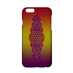 Flower Of Life Vintage Gold Ornaments Red Purple Olive Apple Iphone 6/6s Hardshell Case by EDDArt