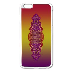 Flower Of Life Vintage Gold Ornaments Red Purple Olive Apple Iphone 6 Plus/6s Plus Enamel White Case by EDDArt