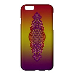 Flower Of Life Vintage Gold Ornaments Red Purple Olive Apple Iphone 6 Plus/6s Plus Hardshell Case by EDDArt