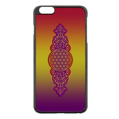 Flower Of Life Vintage Gold Ornaments Red Purple Olive Apple Iphone 6 Plus/6s Plus Black Enamel Case by EDDArt
