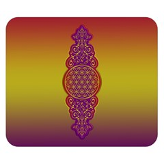 Flower Of Life Vintage Gold Ornaments Red Purple Olive Double Sided Flano Blanket (small)  by EDDArt
