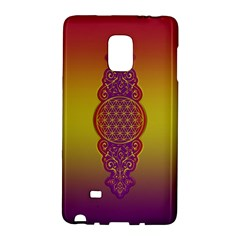 Flower Of Life Vintage Gold Ornaments Red Purple Olive Galaxy Note Edge by EDDArt