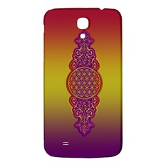 Flower Of Life Vintage Gold Ornaments Red Purple Olive Samsung Galaxy Mega I9200 Hardshell Back Case by EDDArt