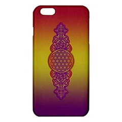 Flower Of Life Vintage Gold Ornaments Red Purple Olive Iphone 6 Plus/6s Plus Tpu Case by EDDArt