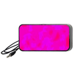 Simple Pink Portable Speaker (black)  by Valentinaart