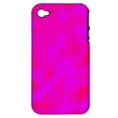 Simple Pink Apple Iphone 4/4s Hardshell Case (pc+silicone)