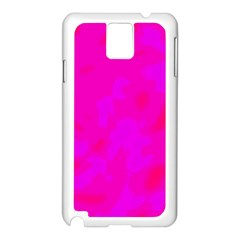 Simple Pink Samsung Galaxy Note 3 N9005 Case (white) by Valentinaart