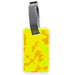 Simple Yellow Luggage Tags (one Side)  by Valentinaart