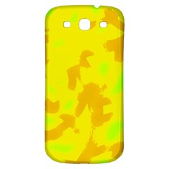 Simple Yellow Samsung Galaxy S3 S Iii Classic Hardshell Back Case by Valentinaart