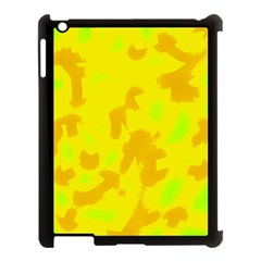 Simple Yellow Apple Ipad 3/4 Case (black) by Valentinaart
