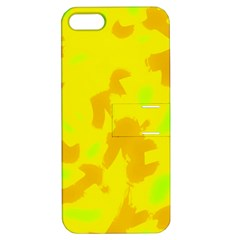 Simple Yellow Apple Iphone 5 Hardshell Case With Stand by Valentinaart