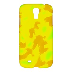 Simple Yellow Samsung Galaxy S4 I9500/i9505 Hardshell Case by Valentinaart