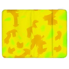 Simple Yellow Samsung Galaxy Tab 7  P1000 Flip Case by Valentinaart
