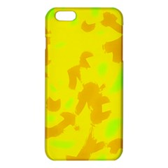 Simple Yellow Iphone 6 Plus/6s Plus Tpu Case by Valentinaart