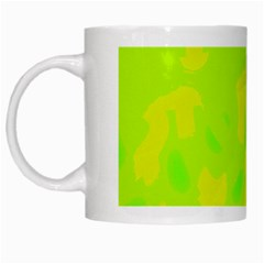 Simple Yellow And Green White Mugs by Valentinaart
