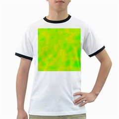 Simple Yellow And Green Ringer T Shirts by Valentinaart
