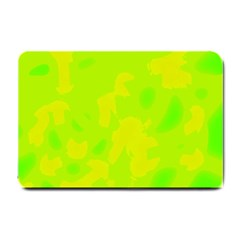 Simple Yellow And Green Small Doormat  by Valentinaart