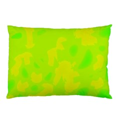 Simple Yellow And Green Pillow Case by Valentinaart